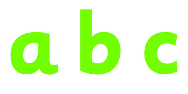 Display Lettering & Symbols (Pure Green) - Display lettering, display letters, alphabet display, letters to cut out, letters for displays, coloured letters, coloured display, coloured alphabet