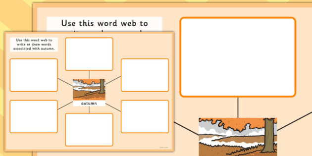 Autumn Pre-Teaching Word Web - autumn, pre-teaching, word web