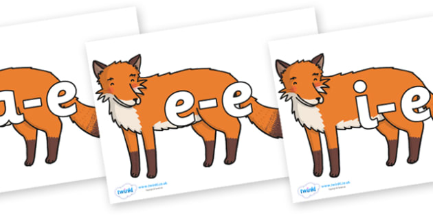 Modifying E Letters on Gingerbread Man Fox - Modifying E, letters, modify, Phase 5, Phase five, alternative spellings for phonemes, DfES letters and Sounds