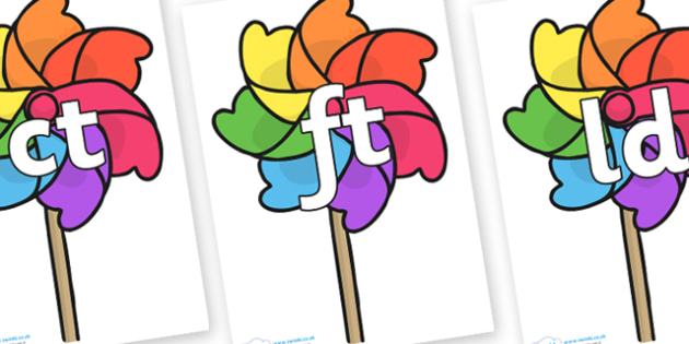 Final Letter Blends on Beach Windmills - Final Letters, final letter, letter blend, letter blends, consonant, consonants, digraph, trigraph, literacy, alphabet, letters, foundation stage literacy