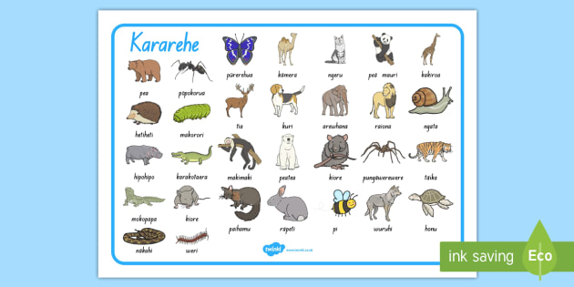 Animals Word Mat