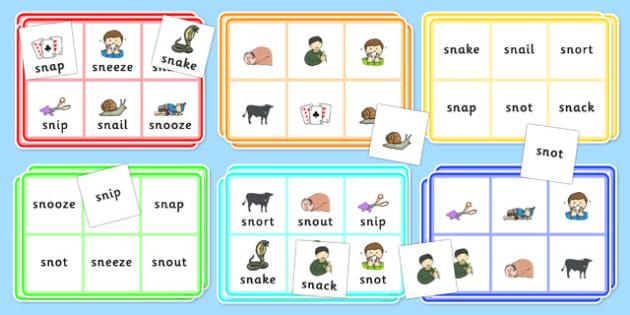 SN Bingo - sn sound, bingo, game, activity, sound, sn, sen, bingo game
