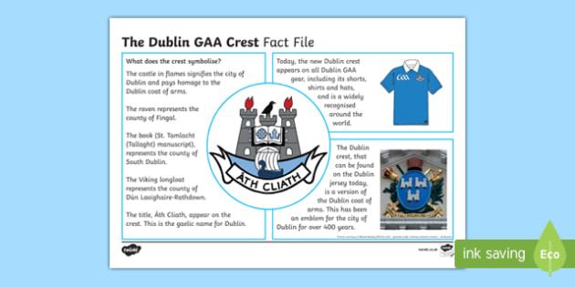 History of the Dublin GAA Crest Fact File-Irish
