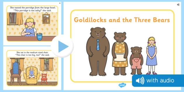 Goldilocks and the Three Bears Audio Narrated Story - goldilocks, three bears, narrated, story, video, audio