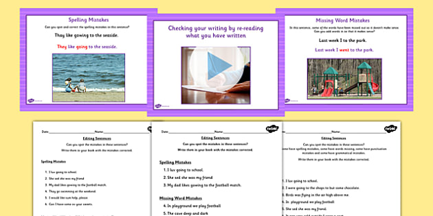 Check Your Writing by Re Reading What You Have Written Powerpoint