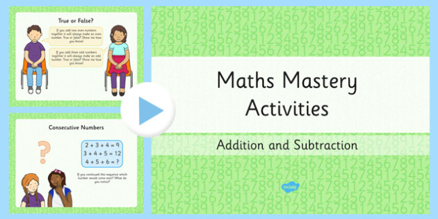 Year 2 Maths Mastery Add and Subtract Numbers PowerPoint