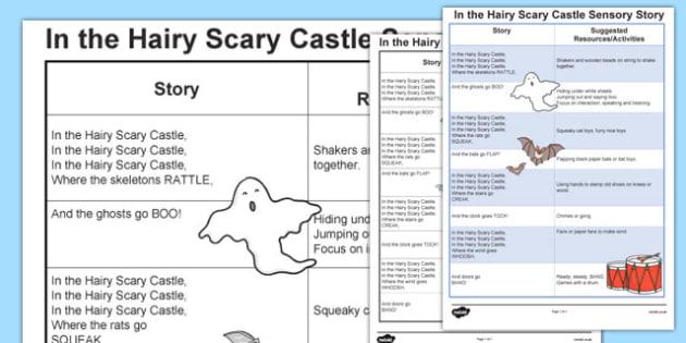 In the Hairy Scary Castle Sensory Story - australia, sensory, story
