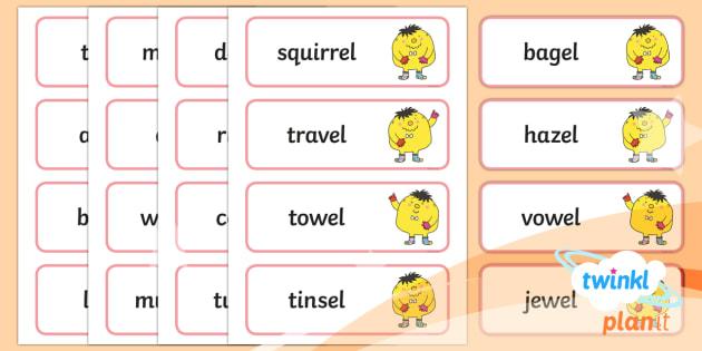 PlanIt English Year 2 Term 1B Spelling Word Cards - Spellings Year 2, Term 1B, words cards, spelling, ks1, y1, writing, english, literacy