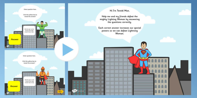 Superhero Themed Adaptable Starter And Plenary PowerPoint - superhero, plenary, powerpoint, starter powerpoint, plenary powerpoint, themed powerpoint