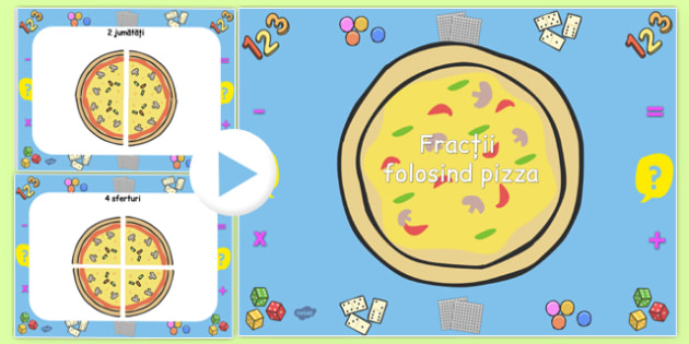 Fracții cu pizza - Prezentare PowerPoint