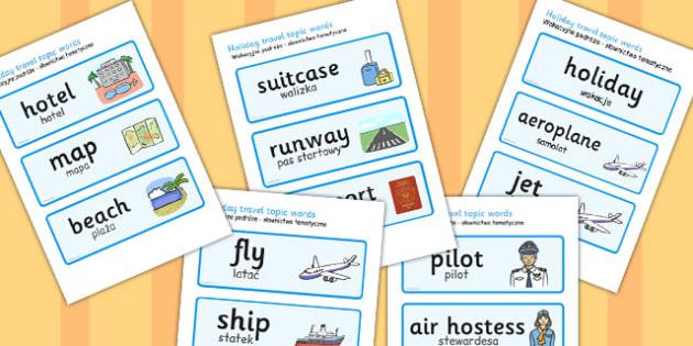 Polish Translation Holiday Travel Topic Words