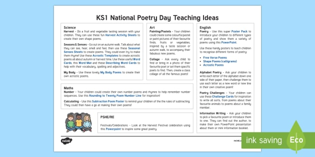 KS1 National Poetry Day Teaching Ideas