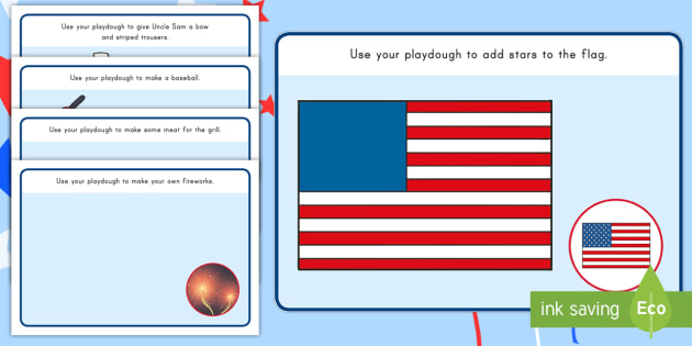 Independence Day Playdough Mats - independence day, Playdough mats