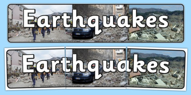 Earthquake Display Banner - geography, natural disasters, header