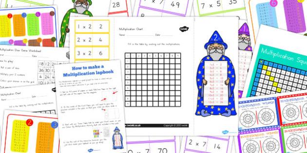 Multiplication Lapbook Creation Pack - australia, lapbook, pack