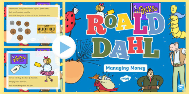 Roald Dahl Themed Year 2 Managing Money PowerPoint-Welsh
