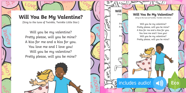 will you be my valentine song valentines day love hearts