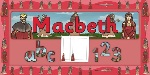 Macbeth Display Pack - Scottish play, Shakespeare, macbeth, display