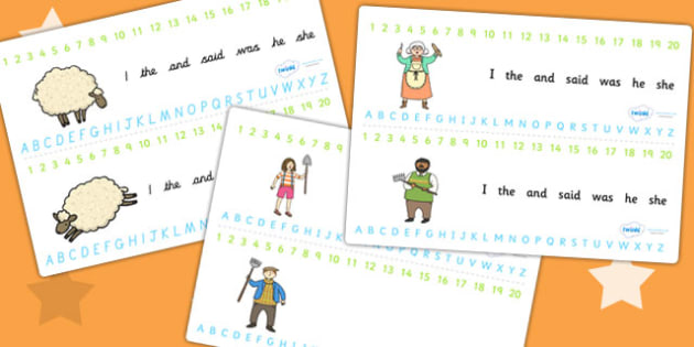 The Boy Who Cried Wolf Combined Number and Alphabet Strips
