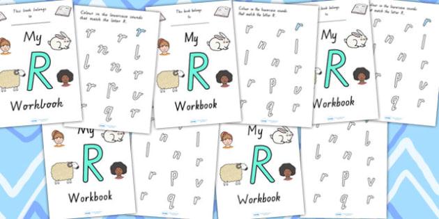 My Workbook R Uppercase - letter formation, fine motor skills