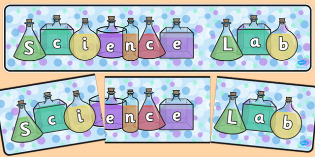 Science Lab Display Banner - science lab, display banner, display