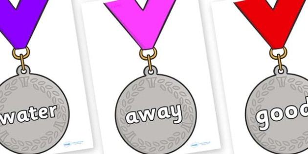 Next 200 Common Words on Silver Medals - Next 200 Common Words on  - DfES Letters and Sounds, Letters and Sounds, Letters and sounds words, Common words, 200 common words