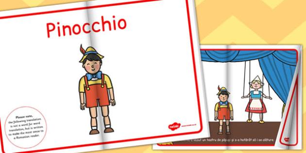 Pinocchio, rezumat cu imagini, poveste ilustrata, lectura, eBook, Romanian