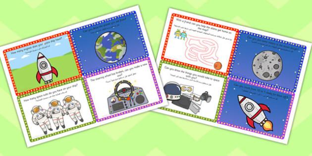 Challenge Cards Spaceship Arabic Translation - arabic, challenge