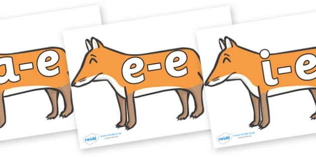 Modifying E Letters on Foxes - Modifying E, letters, modify, Phase 5, Phase five, alternative spellings for phonemes, DfES letters and Sounds