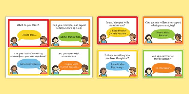 Speaking and Listening Talking Frame Cards - cards, speak, listen