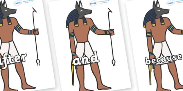 Connectives on Egyptian God - Connectives, VCOP, connective resources, connectives display words, connective displays
