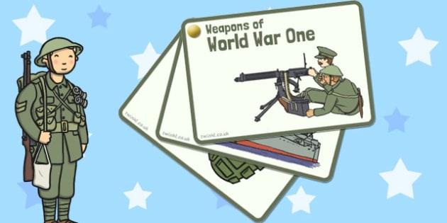 World War One - World War One Weapons Fan - world war one, ww1