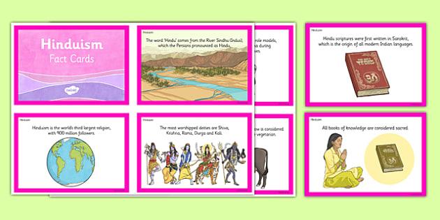 Hinduism Fact Cards - hindu, hinduism, fact cards, religion, facts, ks2, key stage 2
