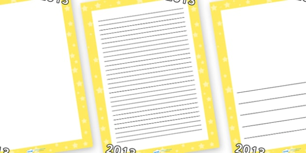 Australia Page Borders 2013 - writing frame, next year, new year, 2013 writing frames