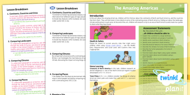 Geography: The Amazing Americas Year 6 Planning Overview CfE