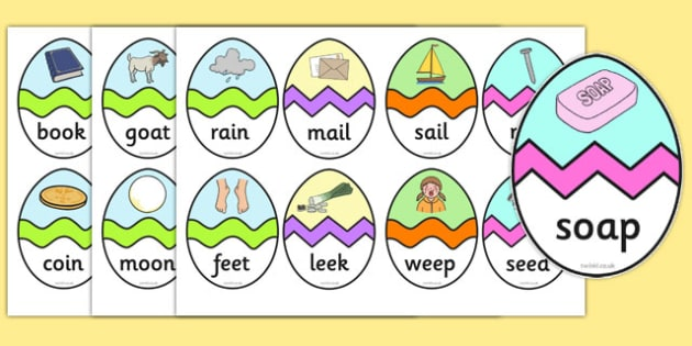 Phase 3 CVC Words Easter Egg Matching Activity - phase 3, phase, cvc, words, cvc words, easter egg, matching, activity, match, easter, egg