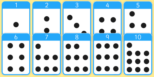 0-10 Number Cards with Objects - Numeracy, number card, number word, math, number recognition, counting