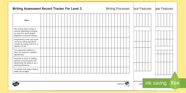 New Zealand Level 3 Writing Assessment Tracker - Writing, Level 3, Assessment, tracker