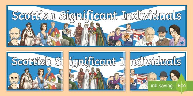 Scottish Significant Individuals Display Banner - CfE, Scottish Significant Individuals, people in the past, history, key figures,Scottish
