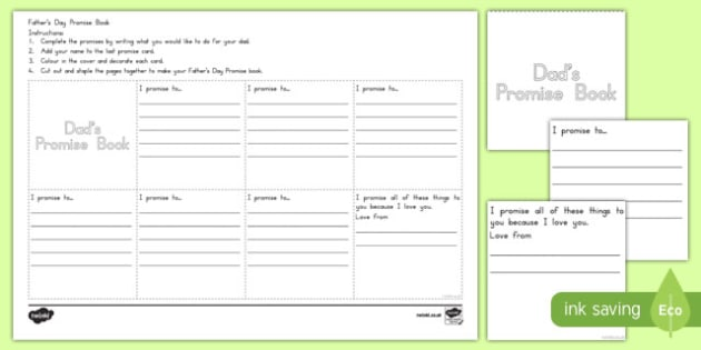 Father's Day Promise Activity Booklet