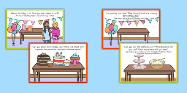 Birthday Role Play Challenge Cards Polish Translation - polish, birthday, role play, challenge, cards