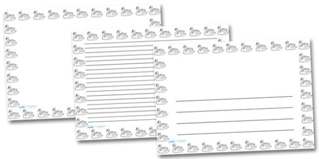 Swan Landscape Page Borders- Landscape Page Borders - Page border, border, writing template, writing aid, writing frame, a4 border, template, templates, landscape