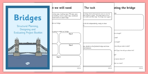 Structures Planning Designing and Evaluating a Bridge Booklet