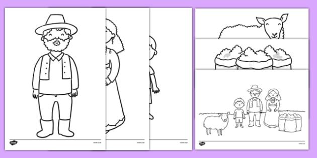 Baa Baa Black Sheep Colouring Pages