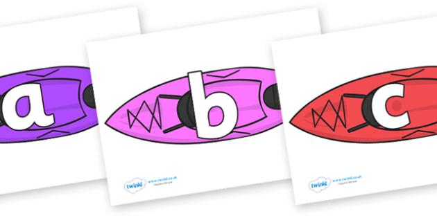 Phoneme Set on Kayaks - Phoneme set, phonemes, phoneme, Letters and Sounds, DfES, display, Phase 1, Phase 2, Phase 3, Phase 5, Foundation, Literacy