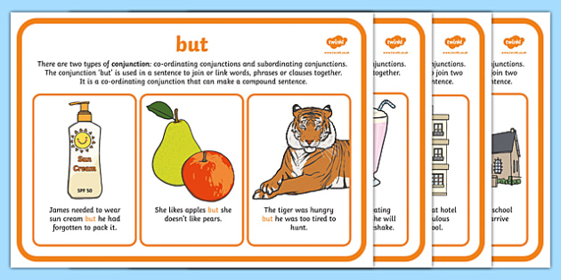 Year 2 Conjunctions Display Posters - Conjunctions, Connectives