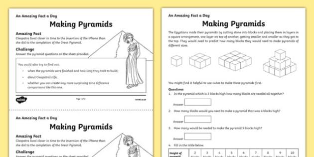 Making Pyramids Activity Sheet, worksheet