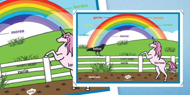 Rainbow Colours - Basque A4 Display Poster