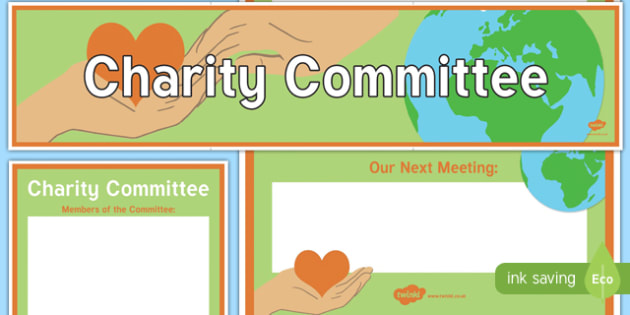 Charity Committee Display Banner and Poster - charity committee, display banner, display, banner