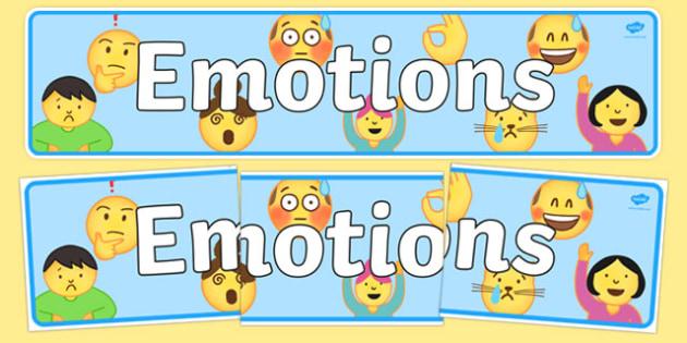 Emotions (Emojis) Display Banner - , moji